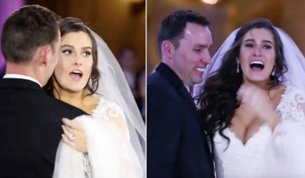 Bride Thinks Her First Dance Is Ruined But The Groom Shows Her The Stage And She Loses It